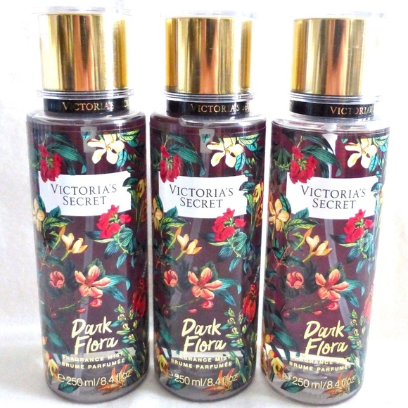 a6b6d96100 Victoria Secret DARK FLORA BODY MIST -3 NEW